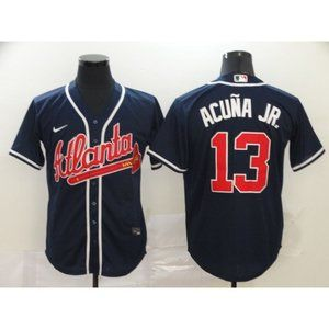 Atlanta Braves Ronald Acuna Jr. Navy Game Jersey